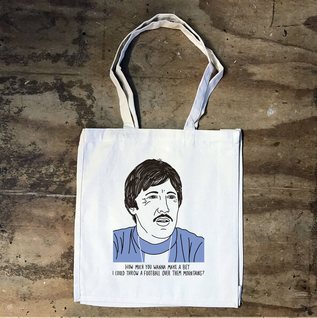 Napoleon Dynamite - Uncle Rico - How Much You Wanna Make A Bet Tote - Jiggle Apparel