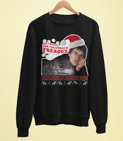 Louis Theroux - All I Want For Christmas Is Theroux - Christmas Card Sweater