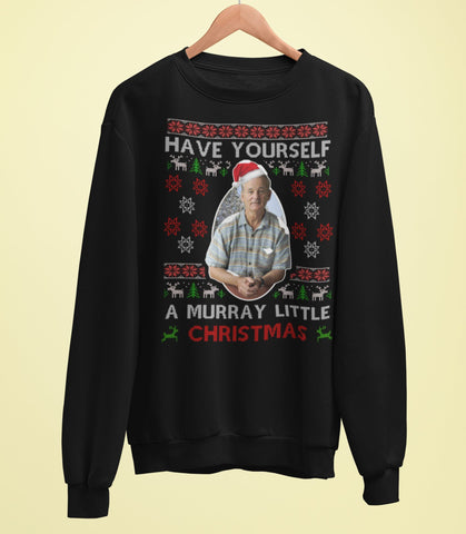 Bill Murray Christmas Sweater - Murray Little Christmas - Jiggle Apparel