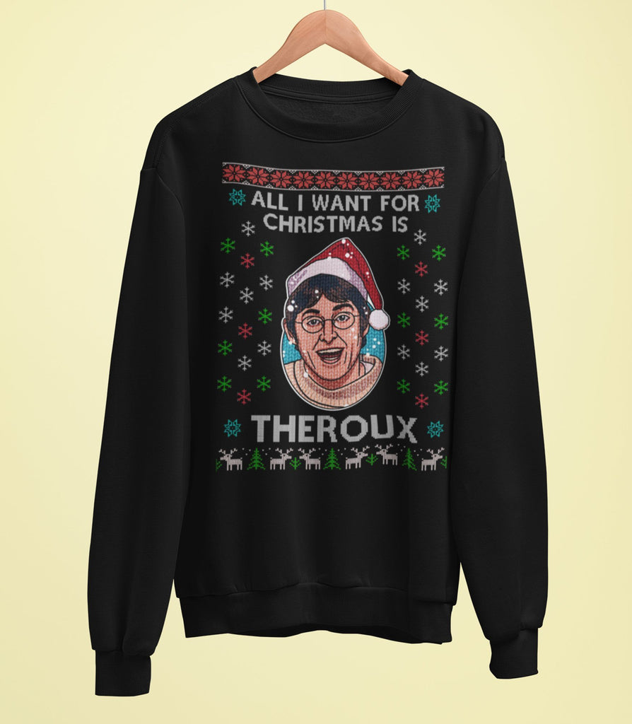 Louis Theroux - All I Want For Christmas Is Theroux Sweater - Jiggle Apparel