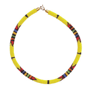MAASAI NECKLACE - SUNSHINE