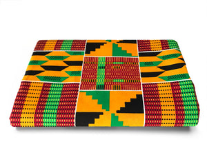 FABRIC, KENTE - AFRICA -  AFRICAN FABRICS AUSTRALIA - cotton material for sewing quilting and fashion