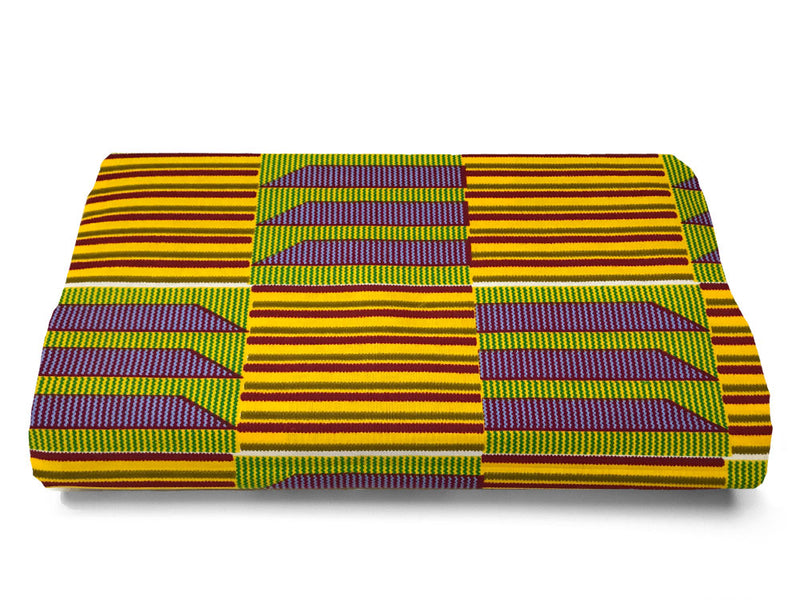 FABRIC, KENTE - GAMBIA -  AFRICAN FABRICS AUSTRALIA - cotton material