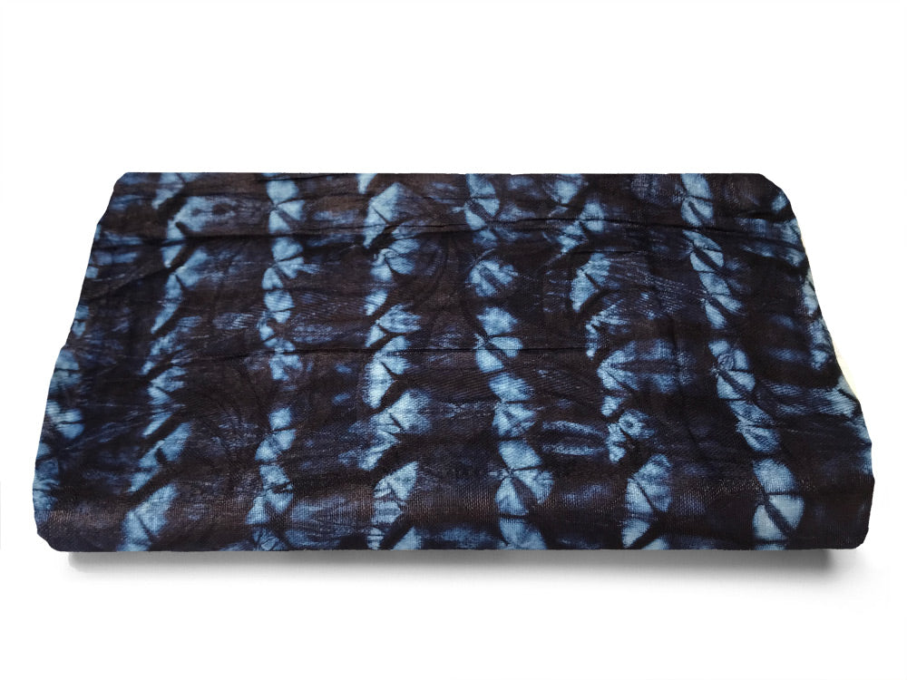 AFRICAN COTTON MATERIAL - INDIGO hand dyed by artisans in West Africa - african fabrics australia - TRADITIONAL TEXTILES - TRACKS