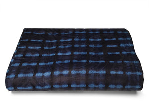 FABRIC, INDIGO CLOTH, HAND DYED - HUMANITY -  AFRICAN FABRICS AUSTRALIA - cotton material