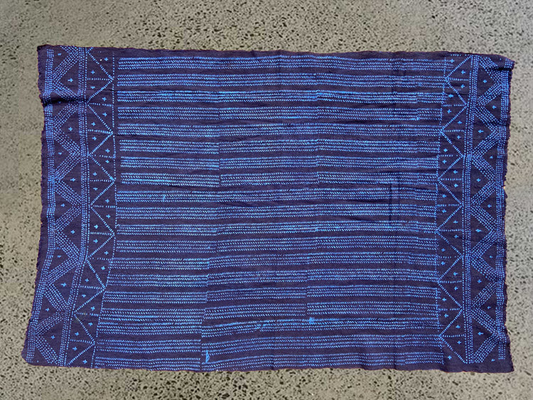MUD CLOTH - TRACKS - INDIGO