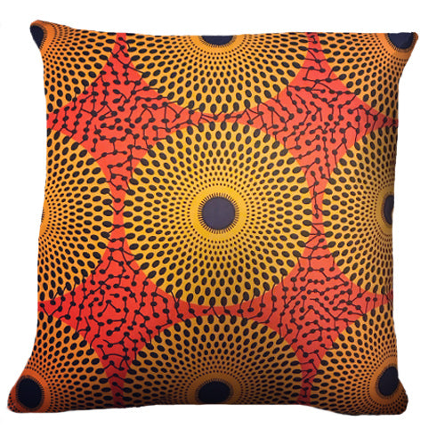 AFRICAN HOMEWARES - custom made cushion - 100% cotton Ankara material - African fabrics australia - spark