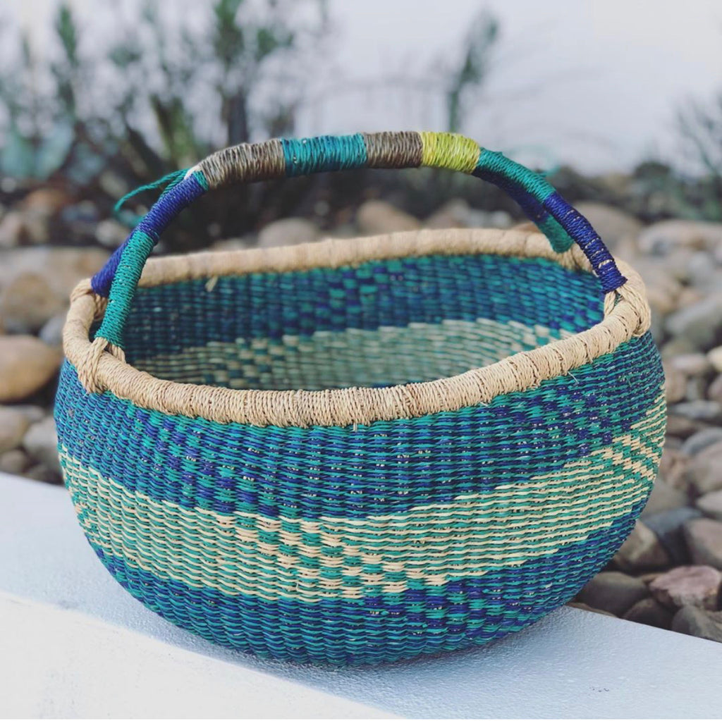 VEGAN BASKET - AQUA - L