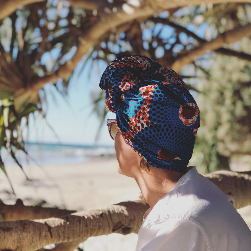 HEAD WRAP - BLUE SPARK