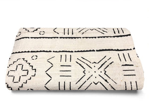 MUD CLOTH - MBOULA - WHITE