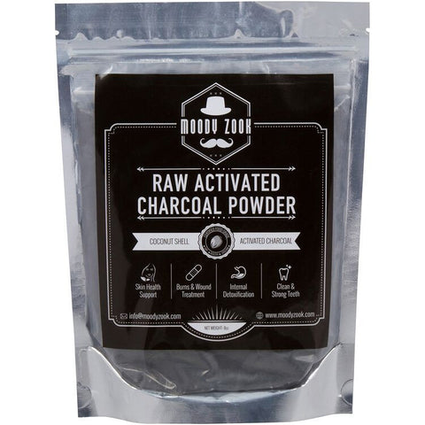 Moody Zook 8oz Raw Activated Charcoal Powder