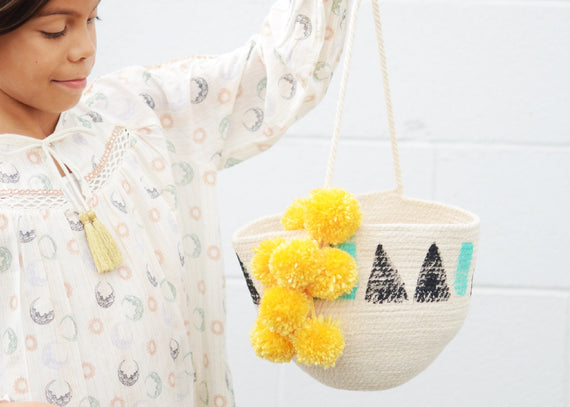 Craft it! Painted Rope Bag