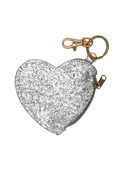 Milk & Soda Glitter Heart Coin Purse