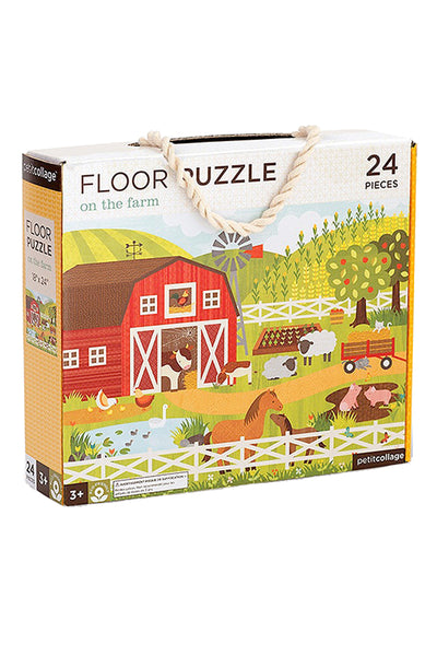 Petit collage floor puzzles- on the farm