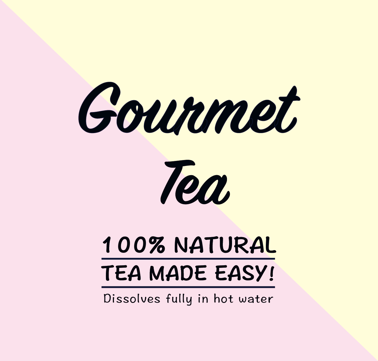 Peppermint Tea / 100% Natural Tea, Crystallised in Pops / Dissolves Fully In Water