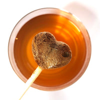 Earl Grey Tea-Pops / Gourmet Tea 100% Natural / Crystallised Hart Shape
