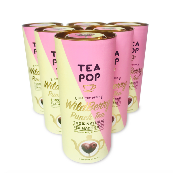 WildBerry Punch Tea-Pop Sticks / Wholesale Price / 1x Case (6units)