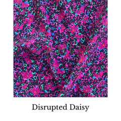 Daisy disrupted fabric swatch