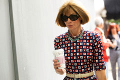 Anna Wintour with coffee