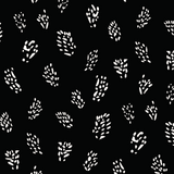 Fabric design white dots on black