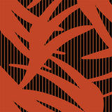 Abstract orange shapes on black with stripe