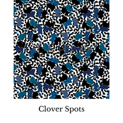 Clover spots fabric swatch