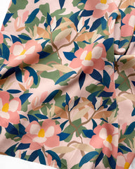 Floral print in pink and blue