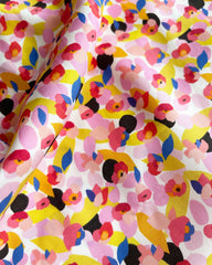 Floral swatch with pink and yellow flowers