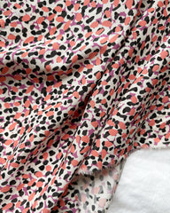 Image of silk print pink and black