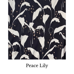 Peace Lily Leaf Fabric Swatch