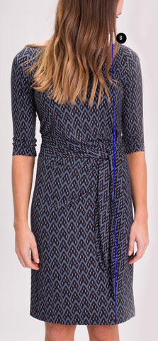 Dress Length Triangle Print Anna Dress