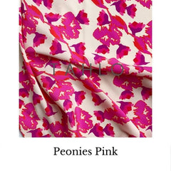 Fabric swatch TAHLO peonies pink