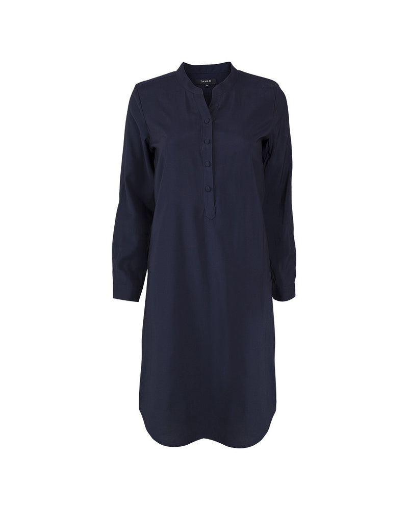 Shirt dress with customised sleeves