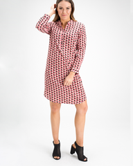 Jessica Silk Spandex Shirt Dress