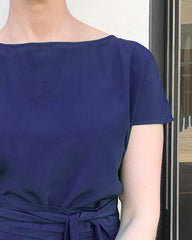 Saskia Shell Top with Obi Belt