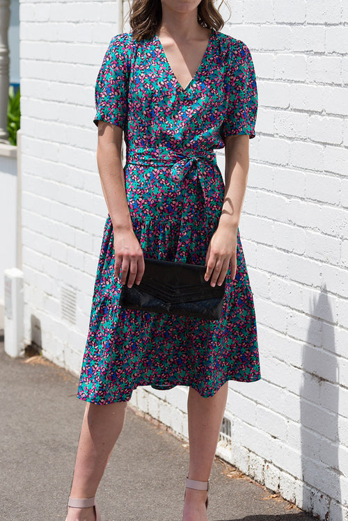 Veda Dress - Silk Print