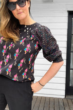Selma Three Print Top