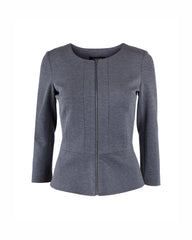 Tahlo: Peplum jacket with zip