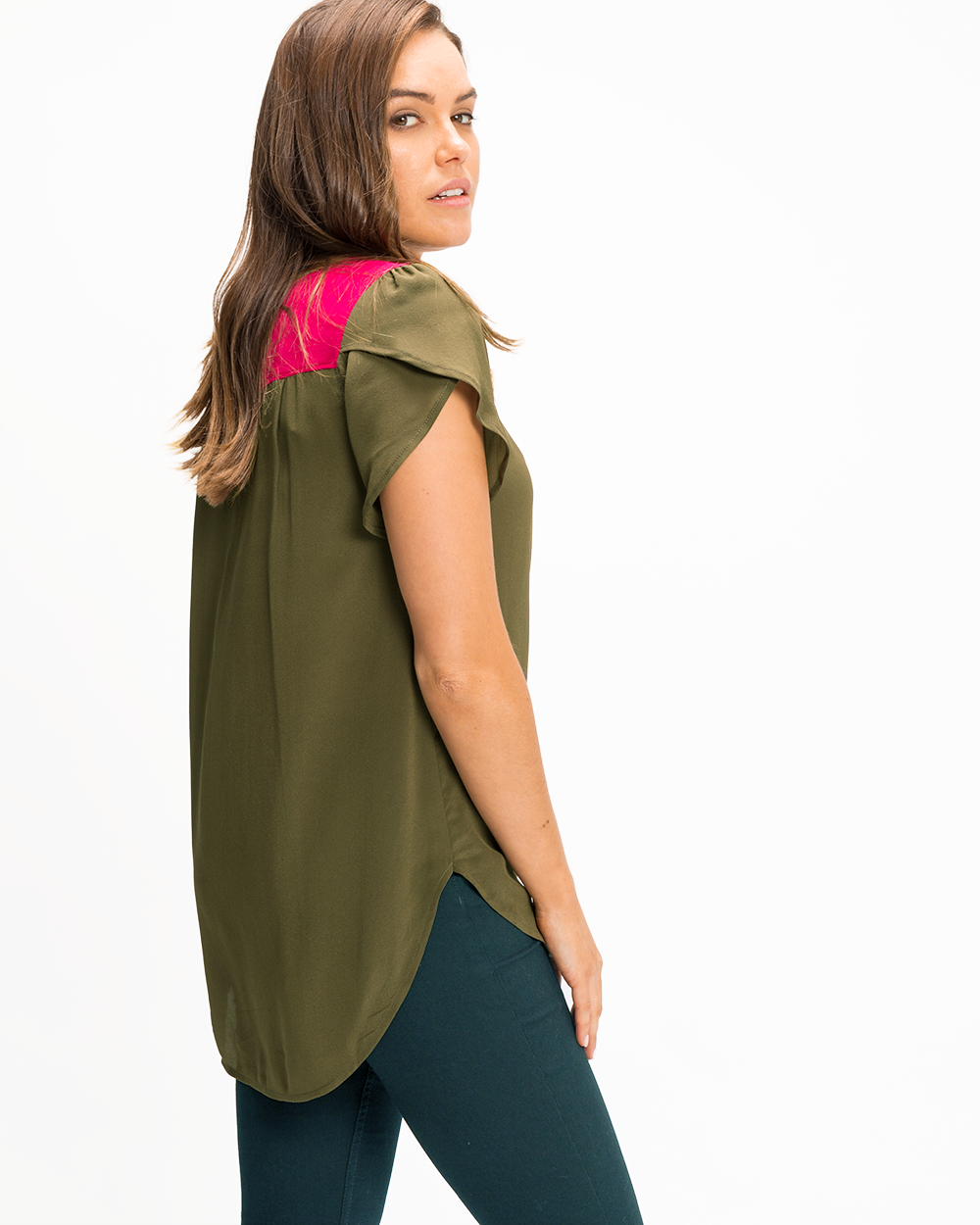 Contrast Top - Plain Silks