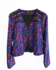 Courtney Crop Silk Jacket