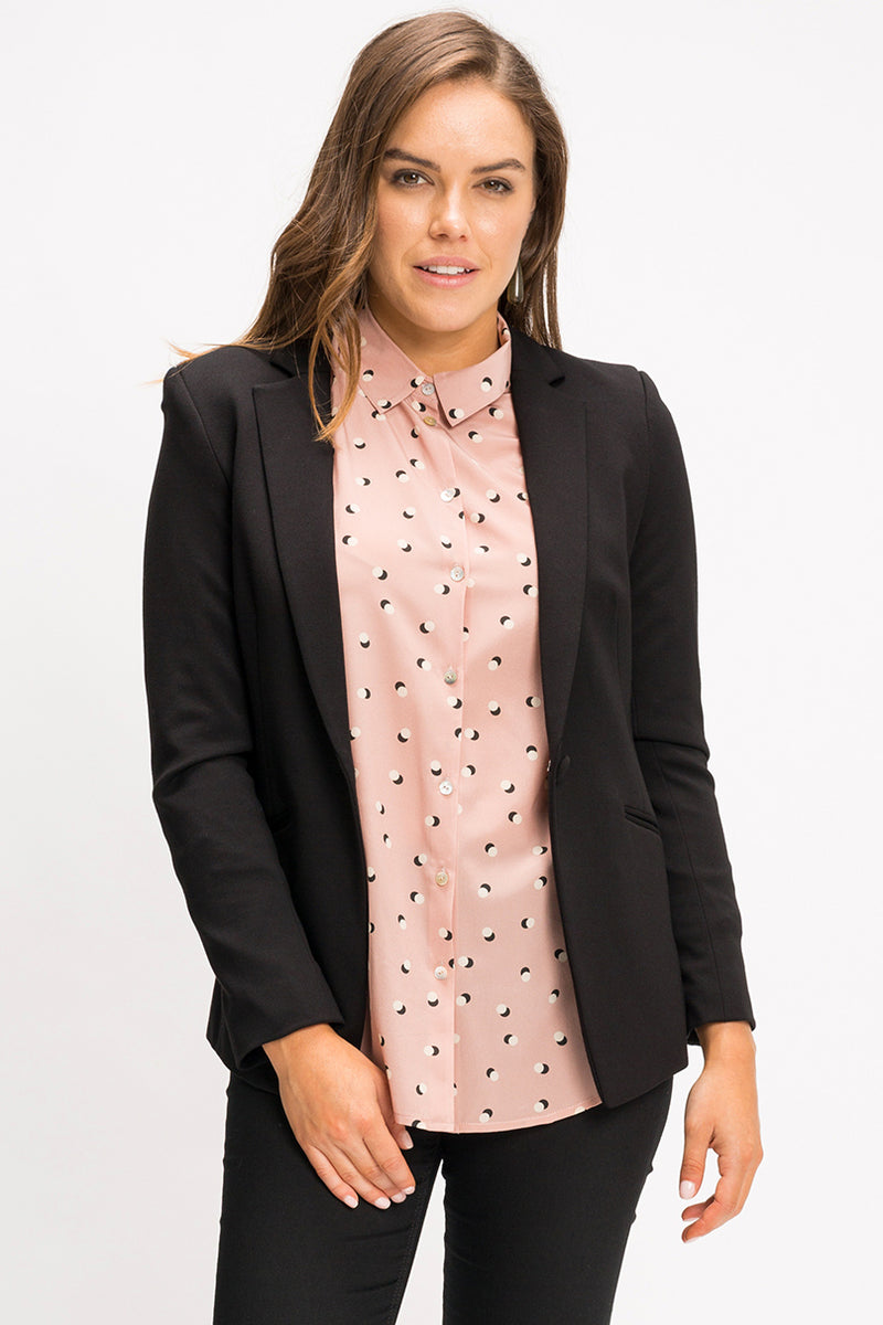 Classic Silk Shirt - Polka Shadow