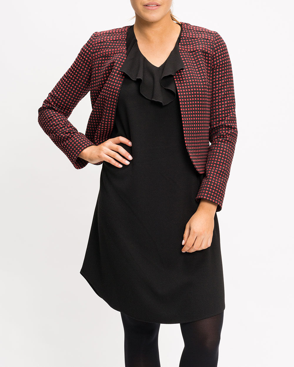 Arki Bell Sleeve Shift Dress - Black Crepe