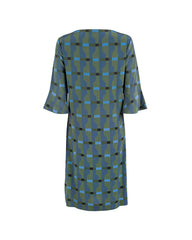 Arki Bell Sleeve Silk Shift Dress