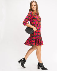 Arki Shift Dress with Frill