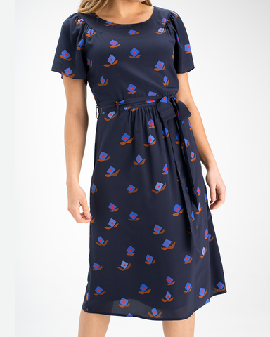 Rupert Dress in Printed Silk
