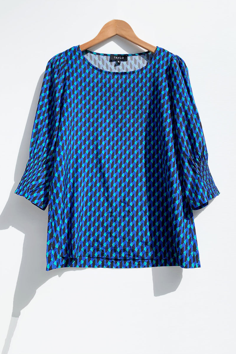 Pia Silk Top - Prairie Sleeve