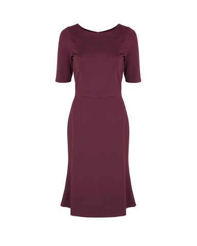 Erica Pencil Dress with Bell Hem