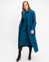 Double Button Duster Coat - Longline