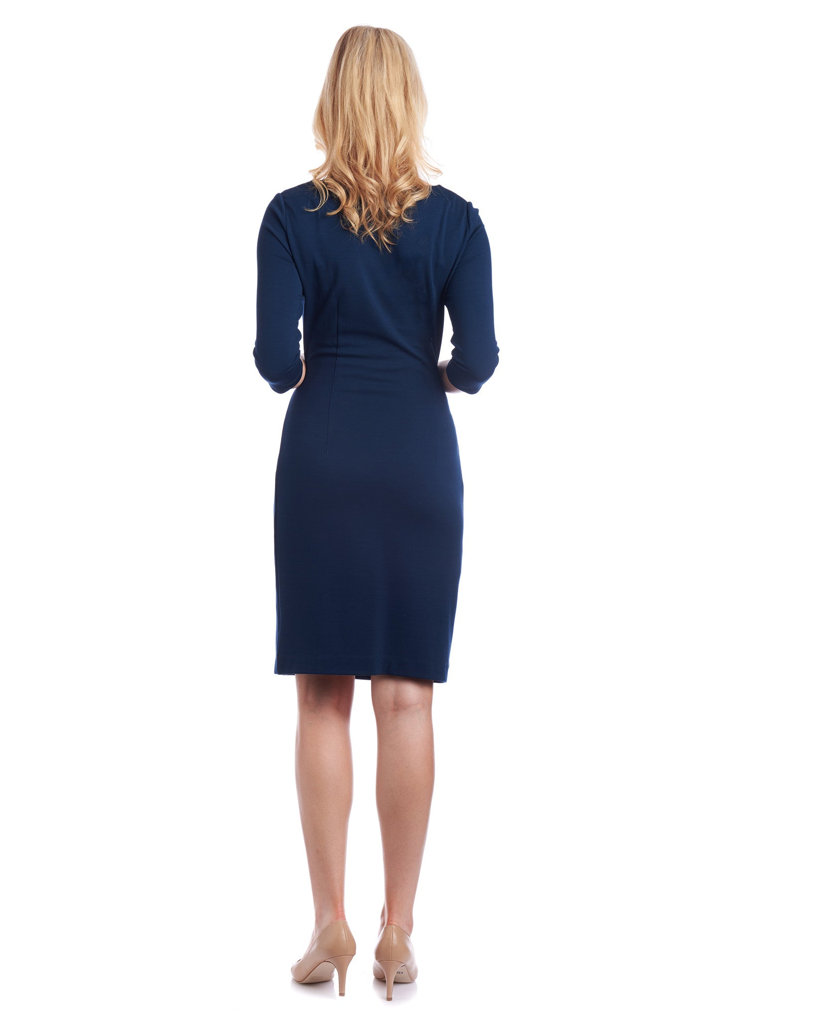 Anna Side Tie Pencil Dress: The adjustable tie waist allows you to choose how tightly you want to make the waist