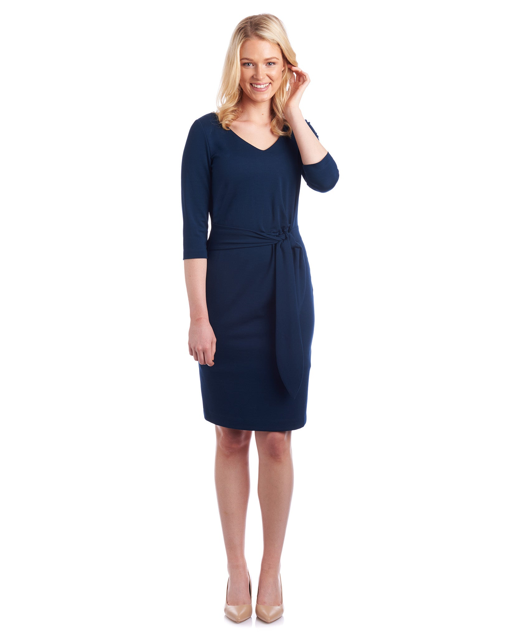 Tahlo: Anna Side Tie Pencil Dress loves curves and is great for most body shapes